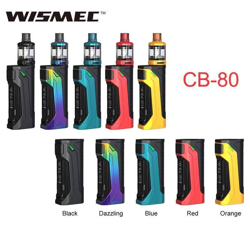 Original Wismec CB-80 Vape Mod/Kit 80 W Amor NS Pro réservoir 2 ml idéal pour MTL vapotage Cigarette électronique CB 80 W Vaping Mod