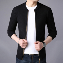 Nisexper 2018 New Arrival Casual Cardigan Men Solid Stand Collar Zipper Men's Sweater Slim Fit Cardigan Masculino Plus Size 3XL