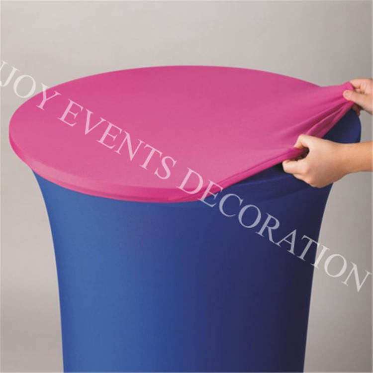 5pcs YHT#101 D75cm elegant lycra spandex cocktail table cover with topper for events docor