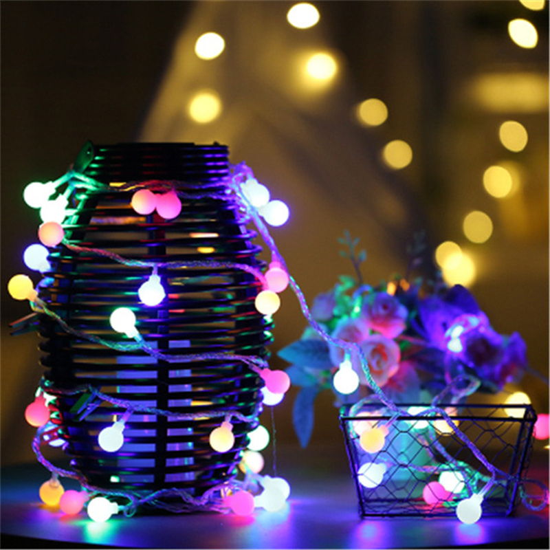 5m 40 Balls LED Christmas Lights Outdoor New Year Garland LED Christmas Fairy Lights Luces De Navidad Party Wedding Decorations