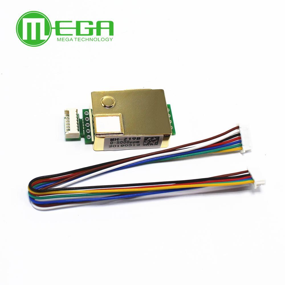 MH-Z19 MH-Z19B infravermelho sensor para monitor de co2 sensor de dióxido de carbono co2 saída serial UART PWM 0-5000PPM