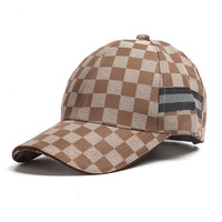 Unisex Plaid Baseball Cap For Spring And Summer Outdoor Adult Casual Sun Hats For Men And
