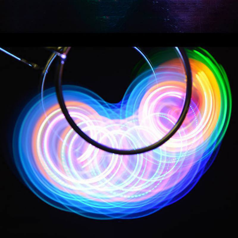 2019 Flashing Gyroscope Spinning Top Magnetic Gyro Wheel Track Toy Colorful Laser Light Led Gyroscopic Toys For Children