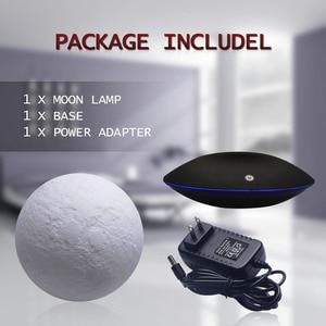 Image 3 - Magnetic Levitating 13.5 ซม. 3D Moon 360 หมุน Night โคมไฟลอยสัมผัสแสงโรแมนติกตกแต่งบ้านสำหรับห้องนอน