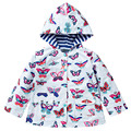 De los niños de Primavera y Otoño niñas chaqueta encantadora muchacha de la capa a prueba de viento impermeable chaqueta cazadora de moda Popular