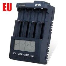Opus BT-C3100 V2.2 Inteligente LCD Universal de LI-ion NiCd NiMh AA AAA 10440 14500 26650 18650 Cargador de Batería Adaptador de LA UE