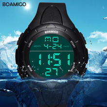 Мужские спортивные часы boamigo модные повседневные цифровые