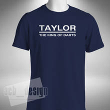 2019 Fashion Taylor King Of Darts Mens T-Shirt Phase Phil Taylor Legend Gerwen Lewis Barney Unisex Tee(China)
