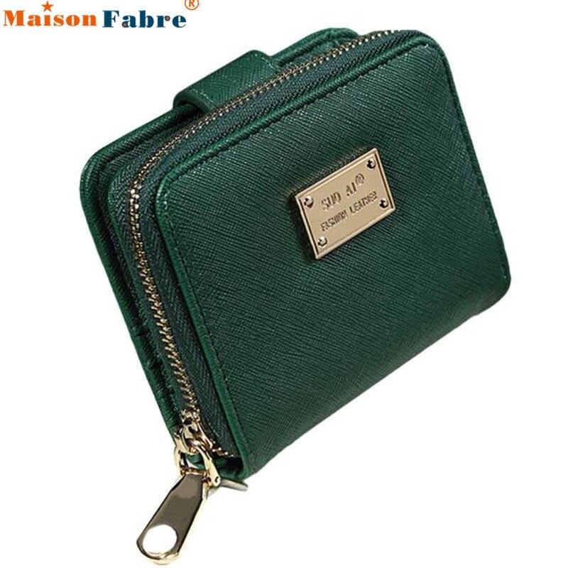 цены  Lady Women Fashion Purse Clutch Wallet Short Small Pu Leather Wallet Card Holder Purse Female Photo Holder Protable Purse Nov19