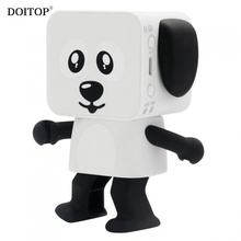 DOITOP Dog Dancing Speaker Wireless Bluetooth Speaker Low Bass Surround Stereo Music Subwoofer Loudspeaker Child Gifts Toys  A3
