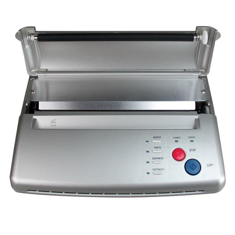 Professional Tattoo Transfer Stencil Machine Thermal Copier Printer Tattoo Transfer Paper Copy Machine With Gift Transfer Paper pro black tattoo stencil thermal transfer copier machine ws d200 gift
