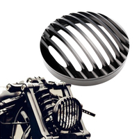 Neverland Black 5 3 4 Motorcycle Headlight Bulbs CNC Grill Bezel Cover For Harley 2004 2014