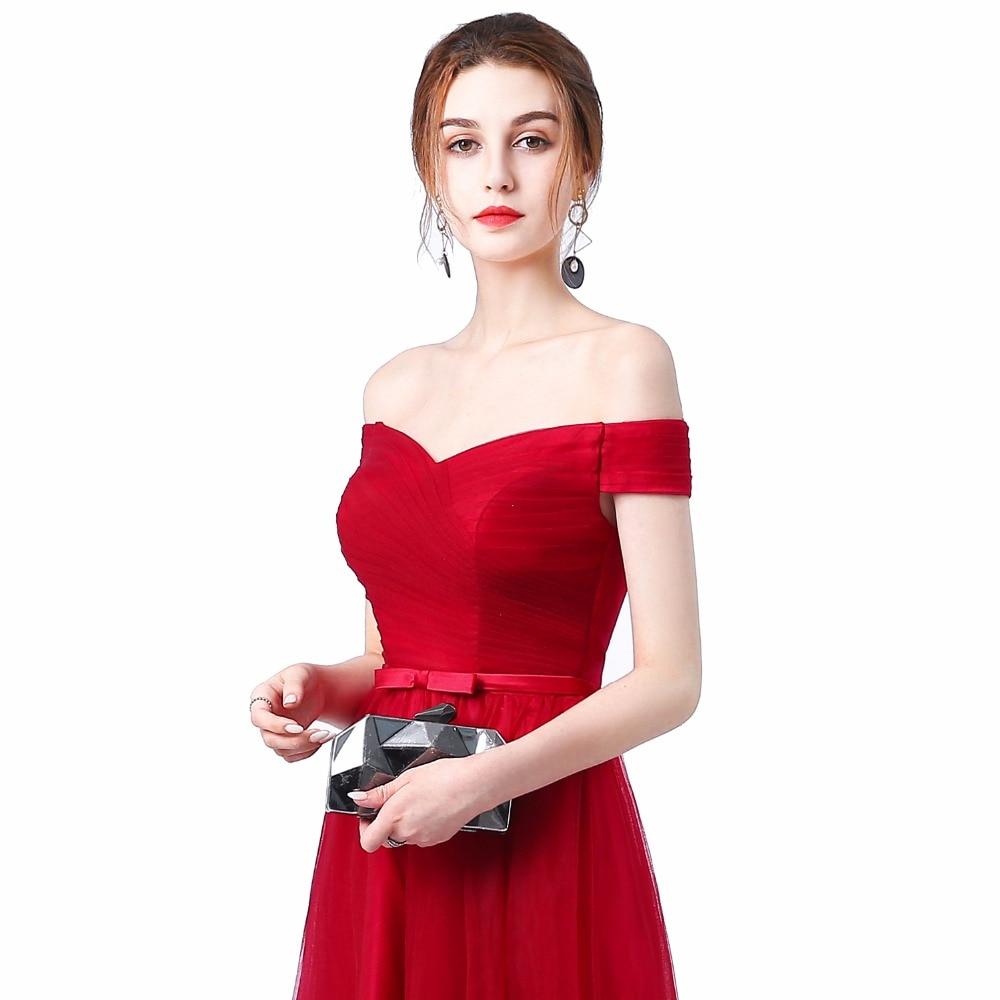 Ladybeauty 2018 Robe De Soiree Rødvin Rød Slit Kort Kveld Kjoler - Spesielle anledninger kjoler - Bilde 6