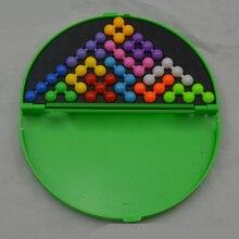 Классическая головоломка Пирамида пластина IQ жемчуг логическая игра разума Головоломка Развивающие игрушки для детей Пирамида бусины головоломка