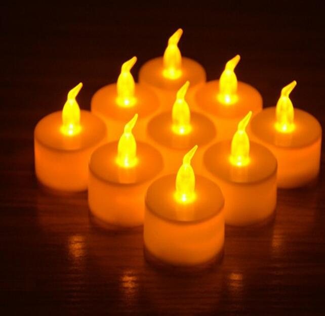 300pcs Flicker Tea Candles Light New LED Flameless Tealight Battery Operated for Wedding Birthday Party Christmas sl5047