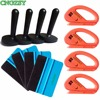 Durable PP Felt Wrapping Scraper Blue Squeegee Magnet Holders Snitty Safety Cutter Car Vinyl Film Wrapping