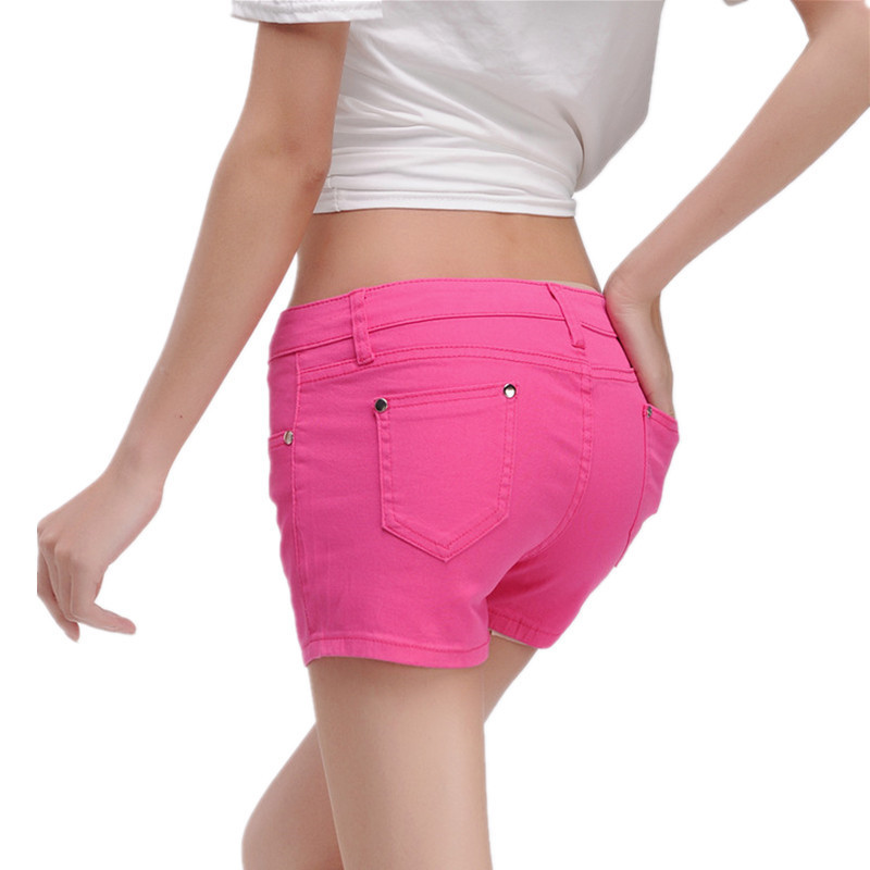 Women Large Size Shorts 2019 Summer Fashion New Was Thin Slim Shorts Temperament Casual Candy Color Female Sexy Mini Shorts yh29
