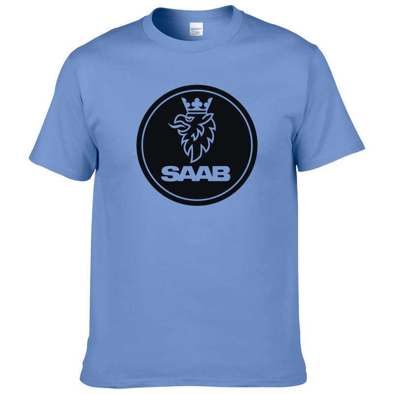 SCANIA Saab футболка Летняя Модная хлопковая Мужская футболка высокого качества с принтом европейский размер #190