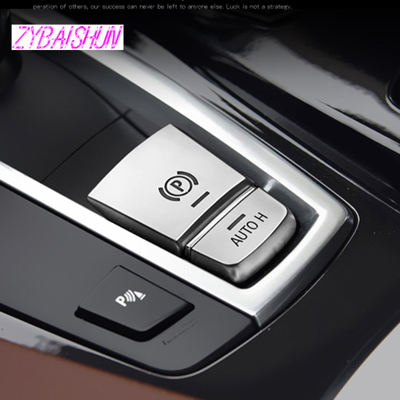 Car Electronic Handbrake AUTO H Button Trim For BMW 5 Series F10 F18 2011-2017
