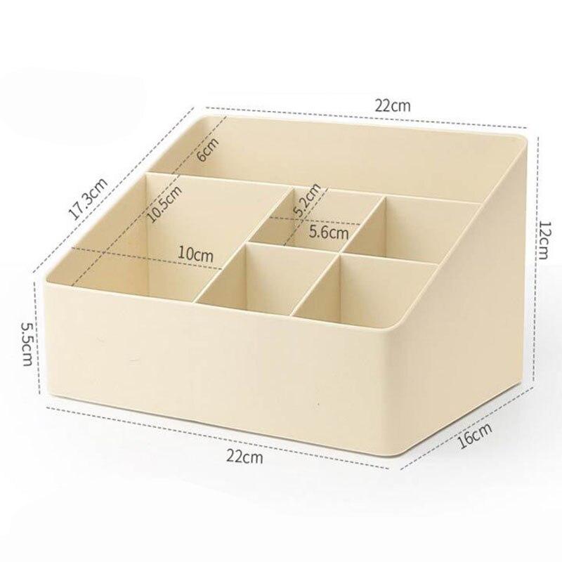 Image 5 - 1 Pcs Simple Makeup Organizer 6 Grid Plastic Storage Box Home Gadget Cosmetics Desktop Finishing Organizador 2019 HOT SALE-in Storage Boxes & Bins from Home & Garden