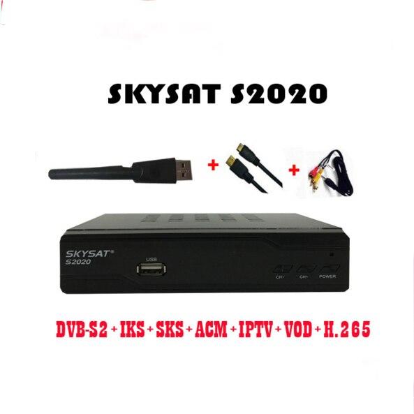 5 шт./лот [5 шт.] SKYSAT S2020 Икс SKS VOD ACM IPTV M3U H.265 наиболее стабильный сервер Twin тюнер спутниковый ресивер