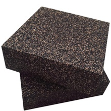 Anti Vibration Isolation Pads   Composed Of Rubber & Cork   Thick & Heavy   6 X 6 X 2 Inch (2 Pack)