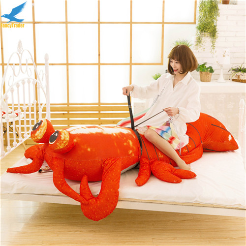 Fancytrader Jumbo Pop Anime Mantis Shrimp Plush Toy Giant Stuffed Soft Simulated Sea Animals Lobster Doll for Adult and Children (5)