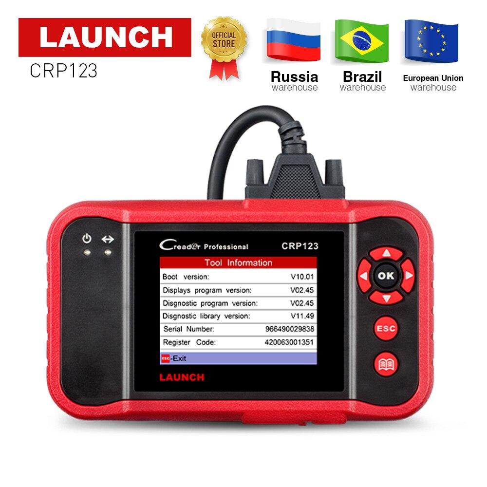 Запуск CRP123 OBD2 код читателя инструмент диагностики авто X431 CRP 123 OBD 2 сканер ABS/SRS/КПП/двигатель бесплатного обновления Creader VII +