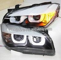 E84 X1 Head Lamp LED Angel Eyes For BMW 2009 2014 Original car with Halogen standard