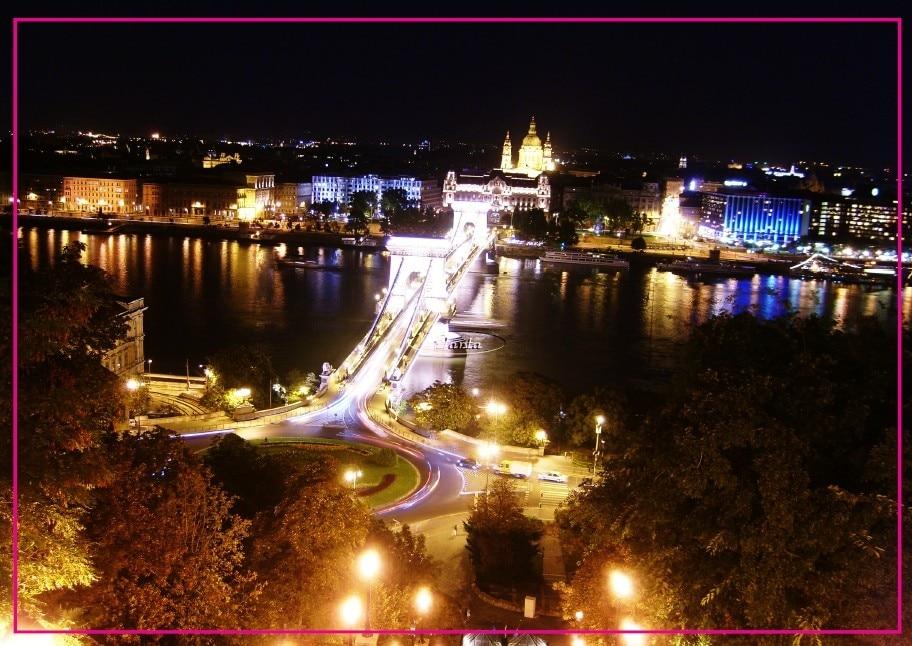 Home Decor Stickers Budapest Hungary Danube River Night