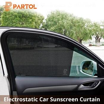 Partol PCV Tylne Okno Samochodu Parasolka Pokrywa Auto Okna Boczne Sun Shade Obejmuje Statyczne Czepiać Tarcza Ekranu Daszek Z Małych otwory