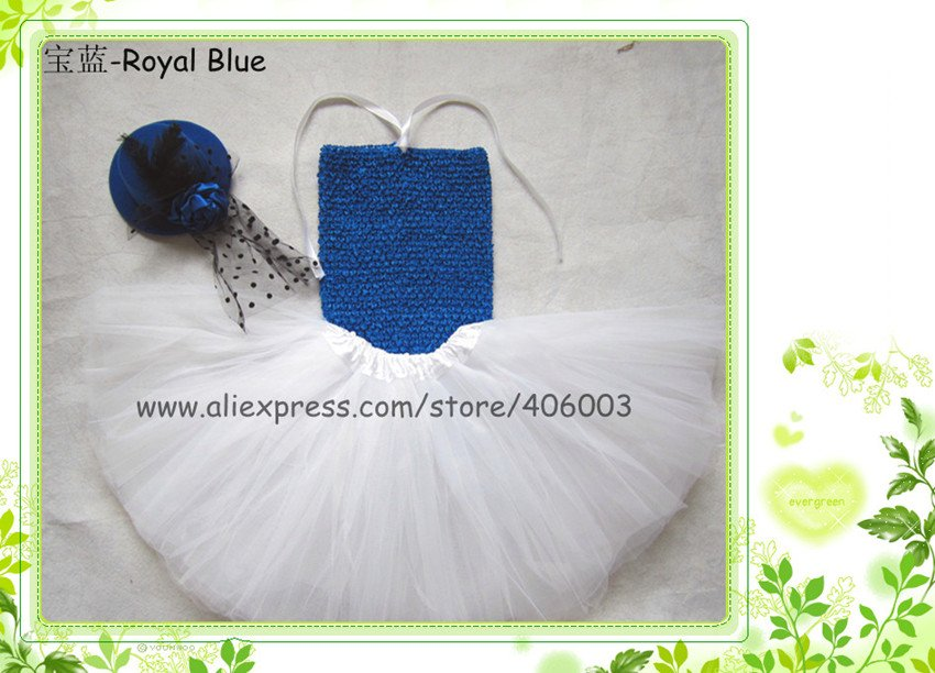 ; ярко-синяя юбка-пачка для девочек; комплект с платьем