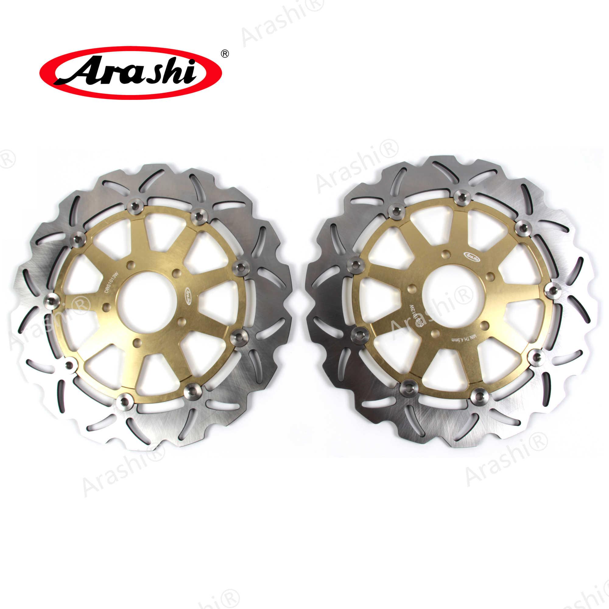 GSXR1000 2001 2002 Arashi Front Brake Discs Disks Compatible with GSXR600 1997-2003 GSX 1400 2002-2007 Motorcycle Accessories GSXR GSX-R 600 750 1000 GSX-R1000 GSX1400 Black GSXR750 1996-2003
