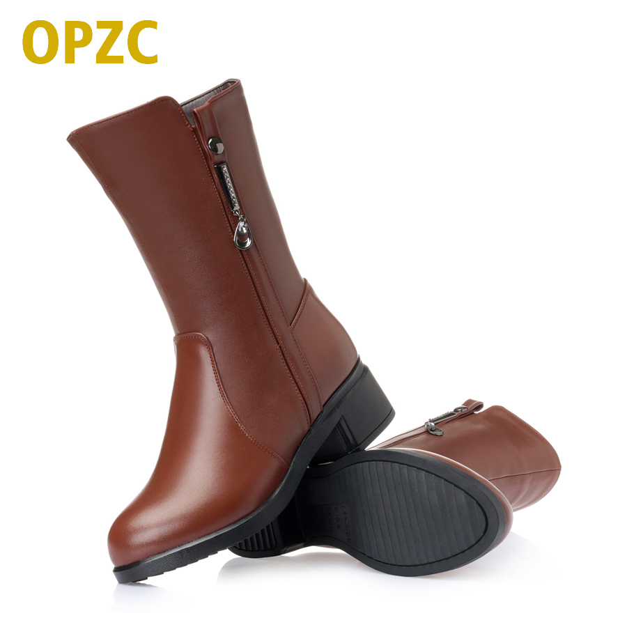 AIYUQI large size 41 42 43 womens boots 2018 winter new style genuine leather female snow boots warm wool sexy party boots