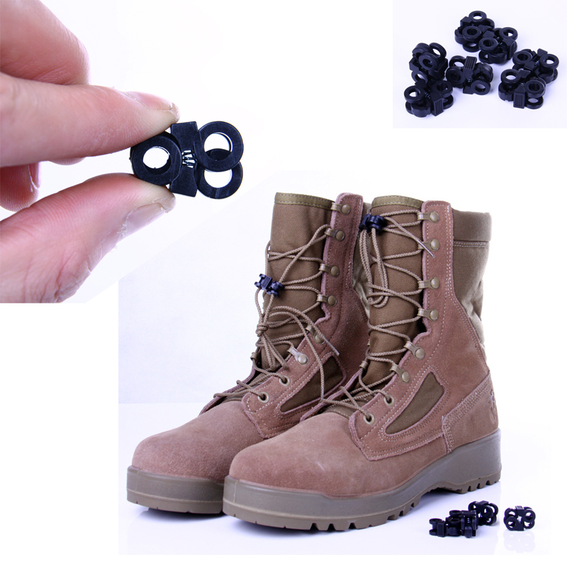 10X EDC Boot Shoelace Buckle Fixed Lace Cross Design Big Hole Outdoor Sport