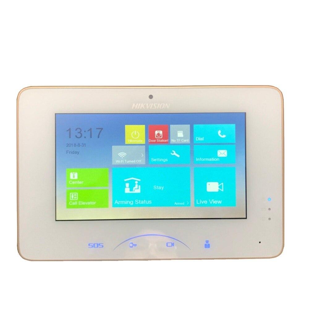 Hikvision ds V1.5.0 DS-KH8301-WT Video di Interni Touchscreen 7 pollici Monitor 1024X600 0.3MP macchina fotografica, slot per Schede TF, interfono via cavo