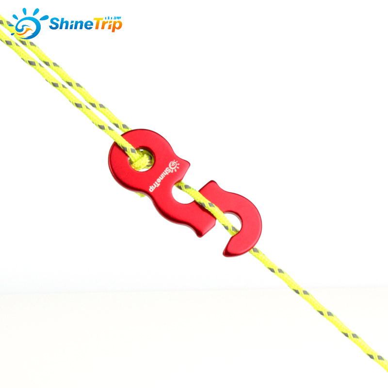 Tihebeyan 5 Pcs Aluminum Guyline Cord Adjuster,Tent Buckle Hanger Hooks Tent Cord Fastener Buckle Tensioners for Camping Hiking Backpacking Outdoor Activities