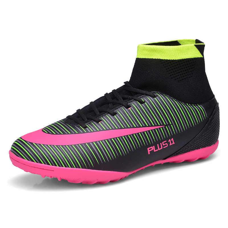 Größe 35-45 Indoor rasen Fußball Stiefel Turnschuhe Männer Günstige Fußball Stollen Ursprüngliche Fußball Mit Futsal Sport Für Frauen & männer