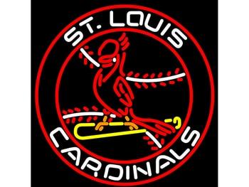 Cardinals Round Custom Beer Bar Glass Neon Light Sign