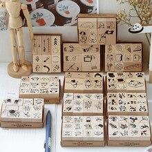 Винтажные маленькие вещи серии деревянные штампы DIY Ремесло Деревянные и резиновые штампы для скрапбукинга канцелярские товары Скрапбукинг Стандартный штамп