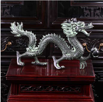 The brass dragon pearl ornaments can cause lucky catch Home Furnishing decor decoration crafts gifts