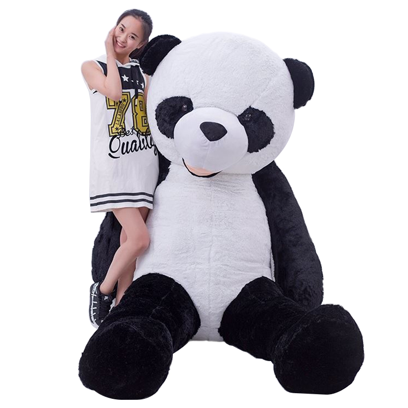 HOT 180cm plush panda skin coat large animial skin birthday gifts Christmas gifts  plush toys doll lovely giant panda about 70cm plush toy t shirt dress panda doll soft throw pillow christmas birthday gift x023