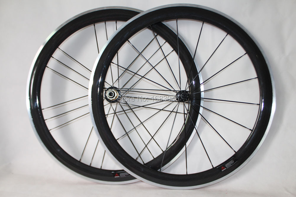 Alloy brake surface Powerway R13 Hub 23mm width 50mm clincher Cycling wheels Carbon Road wheelset