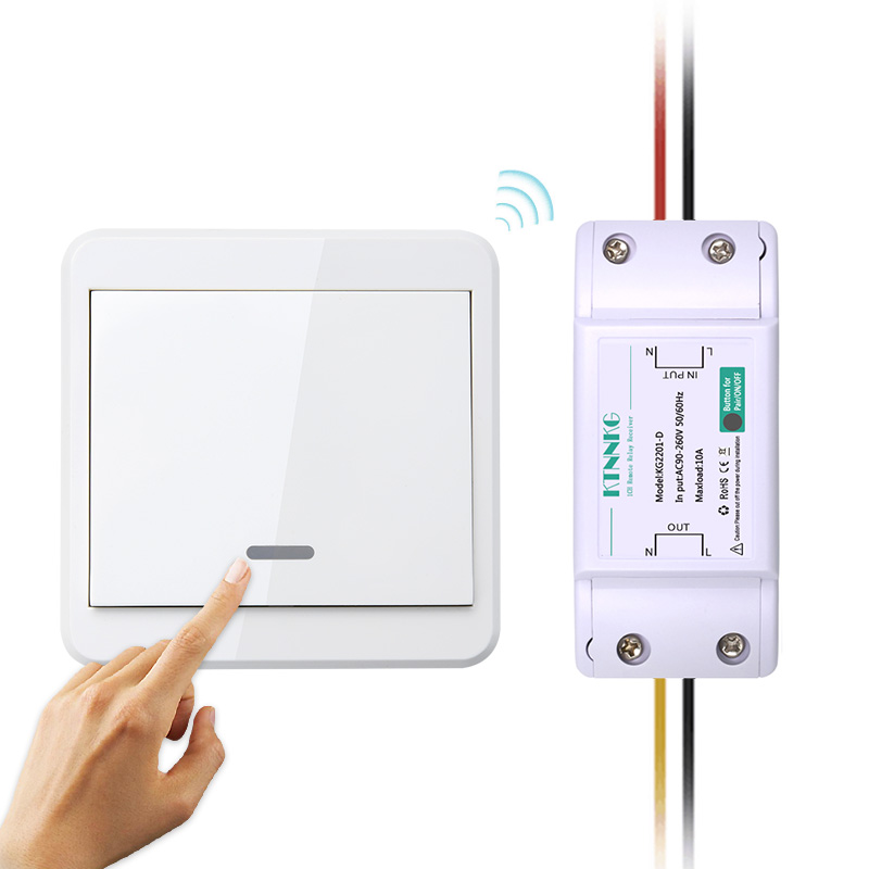 KTNNKG 433mhz Portable Remote Mounted Wireless Remote Controls For Light Switch 86 Wall Panel RF Transmitter With 1 2 3 Buttons
