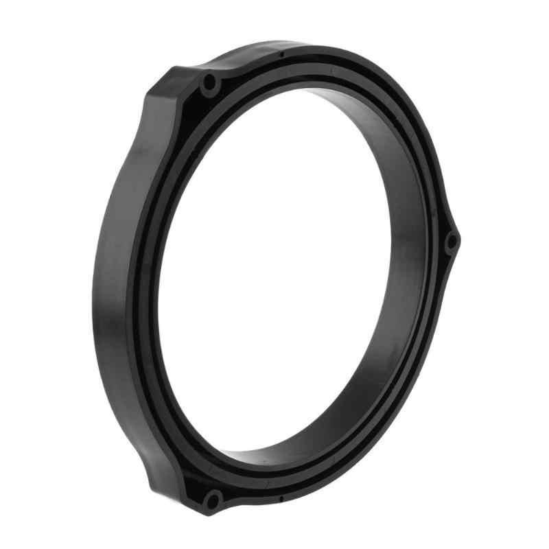 2pcs מכירה לוהטת 6.5in שחור רכב דלת רמקול Spacer טבעת מתאם סוגריים עבור פורד פוקוס רכב סטיילינג אבזרים
