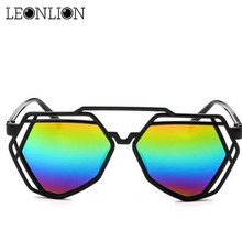 LeonLion 2019 Rainbow Hollow Glasses Feminina Top Brand Desi