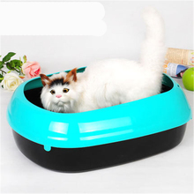 Cat Bedpan Enclosed Large Closed Toilet Box Tray Plastic Dog Box Toilet Sand BedPan Litter Pets Trays Restroom Basin QQM2407