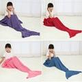 Модули хорошее качество мода Solidlittle русалка шаблон вязание Baby дети Диван пеленание Ребенка кондиционер одеяло 7 цвет