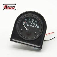 52mm Pointer Auto Motor Oil Pressure Gauge Meter Car Styling Instruments Auto 0-100 PSI Spedizione gratuita