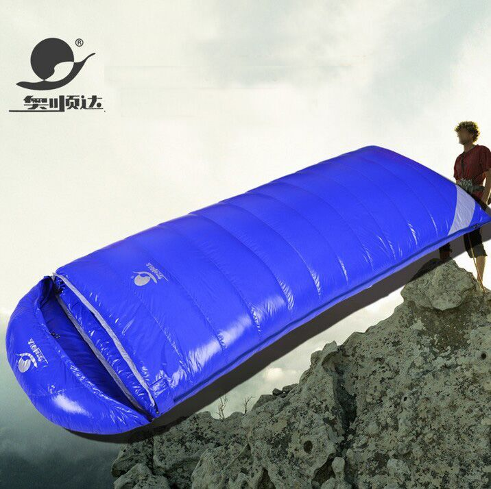 White duck down 2500/2800/3000g filling can be spliced camping comfortable breathable down sleeping bag